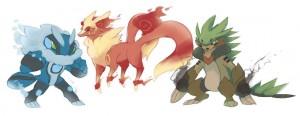 evoluzioni fake di Chespin, Fennekin e Froakie