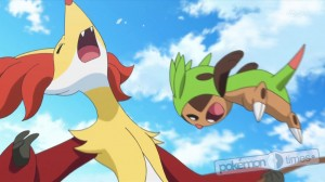 pokemon_serie_XY_Chespin_contro_Delphox_K2_pokemontimes-it