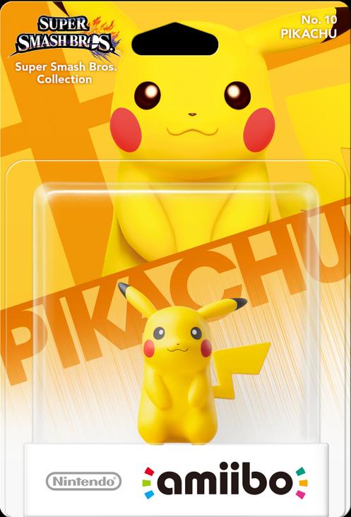 Confezione dell'amiibo n. 10, Pikachu