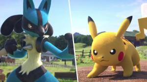 Lucario e Pikachu in Pokkén Tournament