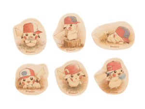 Spillette dei Pikachu con i cappelli di Ash