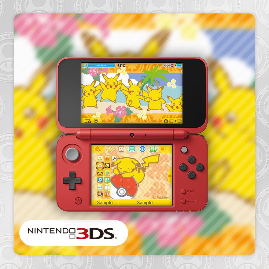 Disponibile il nuovo tema per 3ds pikachu e pok ball for 3ds xl pikachu achat